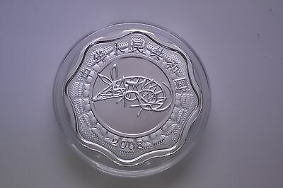 2008 Shanghai Mint Year of the Rat 10 Yuan Flower / Scallop Coin