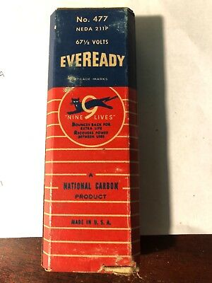 eveready battery model 477 Good condition graphics are all readable