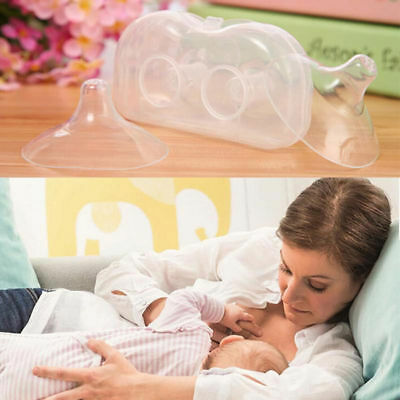 2Pcs Ultra-thin Soft Silicone Nipple Shield Protector Baby Breast Milk Feeding