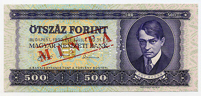 Hungary Pick 175s 500 Forint Minta / Specimen banknote 1990 in UNC condition
