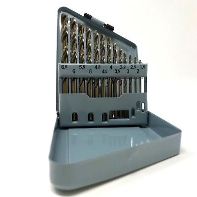 13 Piece COBALT High Speed Steel Drill Bit Set Index M42 METRIC USA ship