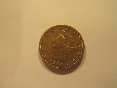 1901 Gold Liberty $10 S Eagle NR Free Shipping Ungraded