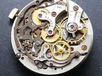 zenith 156 not working Chronograph Movement Caliber for parts (K178)