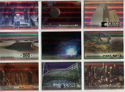 Supergirl Season 1 Complete Rainbow Foil Locations Chase Card Set L1-9