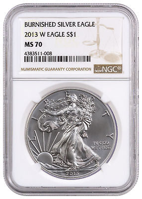 2013-W 1 oz. Burnished American Silver Eagle NGC MS70 SKU28720