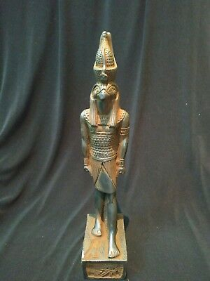 Unique Antique Handmade Statue Ancient Egyptian King HORUS Falcon