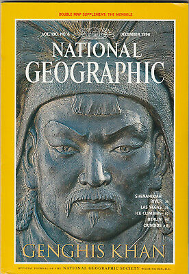 NATIONAL GEOGRAPHIC Magazine December 1996 - Genghis Khan (Free Mongols Map)