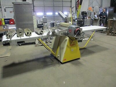 Rondo Sso 64C Production Reversible Sheeter Table Bakery W/ 4 Cutters Doughnut