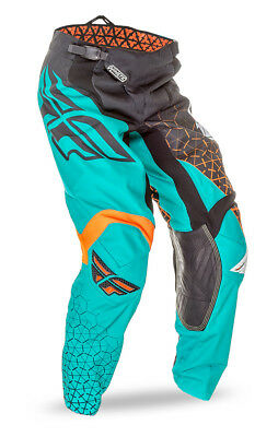 Fly Racing Kinetic Trifecta 2016 Youth MX/Offroad Pants Black/Teal/Orange 24