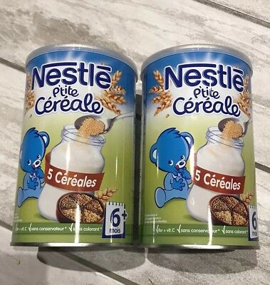 NESTLE P'tite Cereale,5 Cereales drinking porridge 5 Grains for 6+ babies; 400g.