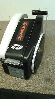 Marsh TD2100 Manual Paper Gum Tape Dispenser Black taping machine