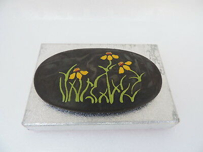 Very Fine Vintage Japanese Hand Painted Enameled Cloisonne Pill Snuff Box Japan