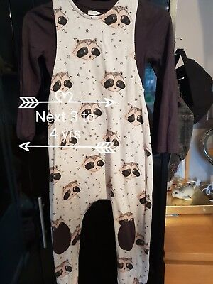 Girls Racoon Next Playsuit 3 to 4 years