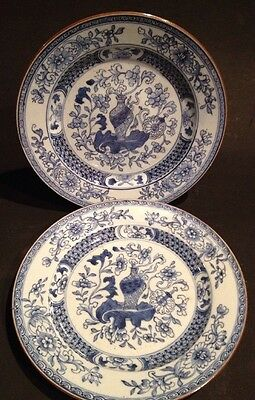 Pair Late 18th / Early 19th Century Porcelain Plates - Free Postage