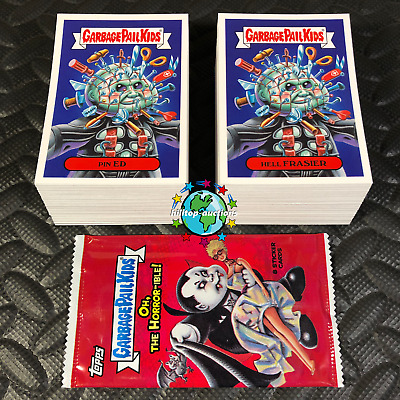 Garbage Pail Kids Oh, The Horror-Ible! 2018 Complete 200-Card Set +Free Wrapper!