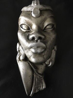 Art Deco 1930s Wall Mask Stylised Negro 12 Inches Large Rare Original!