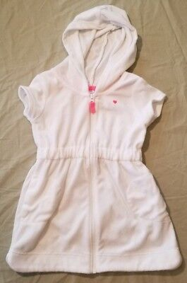 2T Carter's Bathing Suit Cover White Pink 2 toddler summer