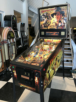 Indiana Jones Pinball Machine By Stern ~ Rare Find ~ Super Huo Game ~ Led Lights