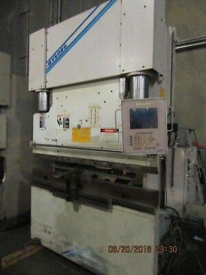 used Wysong Model THS 100  ton 8' hydraulic press brake w/cnc backgauge