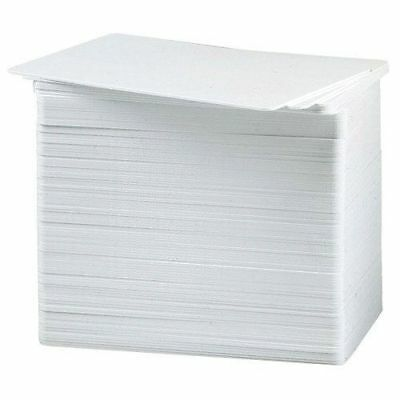 50 Blank White PVC Cards - CR80, 30 Mil, Credit Card Size