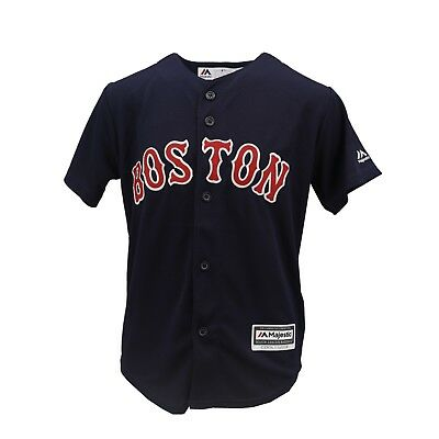 pretty nice 64dd8 091df BOSTON RED SOX Genuine MLB Majestic Cool Base Kids Youth Size Jersey New  Tags