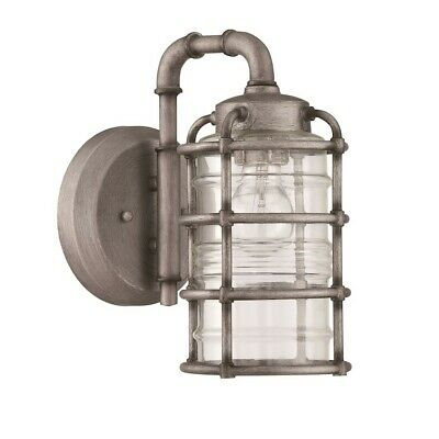 Craftmade Outdoor Hadley 1 Light Small Wall Mount, Aged Galvanized - Z2114-AGV