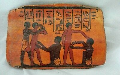 ANCIENT EGYPTIAN ANTIQUE POTTERY FRAGMENT Circumcision of Males in Ancient Egypt