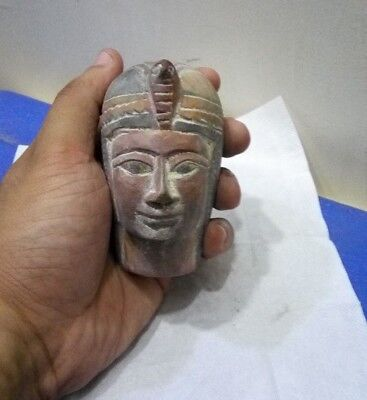 ANCIENT EGYPTIAN ANTIQUE HEAD of Hatshepsut Limestone Antique 1479-1425 BC