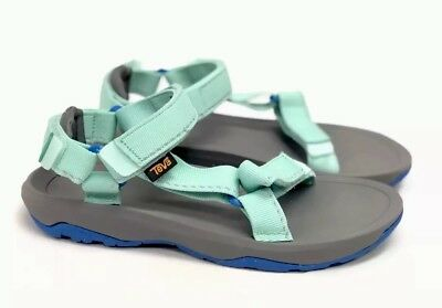 ee6b7ce8359648 Teva Hurricane XLT 2 Speck Sea Glass Teal Blue Green Junior Kids Strappy  Sandals