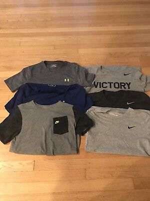 Lot Of 6 Nike & Under Armour T-shirts, Mens Size Small