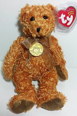 """TY Beanie Babies """"TEDDY (100th Anniversary)"""" Bear - MWMTs! GREAT GIFT! MUST HAVE"""