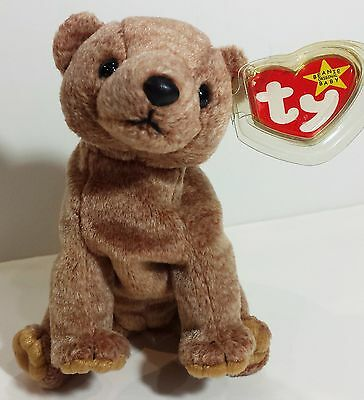 """TY Beanie Babies """"PECAN"""" the Bear - MWMTs! CHECK OUT ALL MY BEANIES & SAVE $$$"""