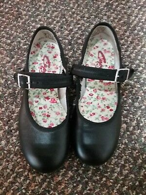 GIRLS CAPEZIO TELE TONE TAP SHOES. BLACK. CHILDRENS 11.5 M very Good preowned