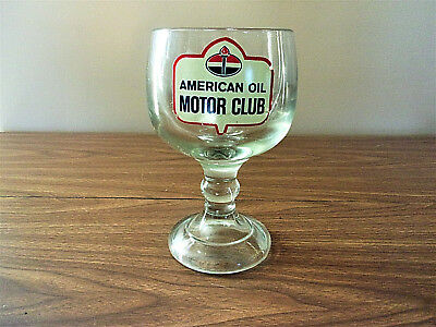 American oil motor club large glass - candy / coin jar?