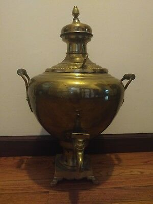 Rare antique Russian or Persian, Chinese or Eastern brass samovar, teapot.