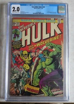 Incredible Hulk 181 CGC 2.0 Cream To Off White Pages - Complete!