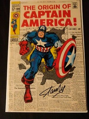 Captain America #109 (Jan 1969, Marvel) *SIGNED BY STAN LEE