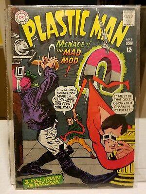 Plastic Man #6 (10/67) Silver Age - worn copy