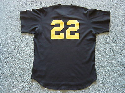 Jason Schmidt Pittsburgh Pirates Game Used Worn Baseball BP Jersey