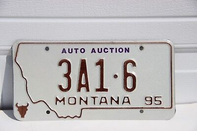 Montana License Plate Auto Auction Yellowstone County 3A1-6