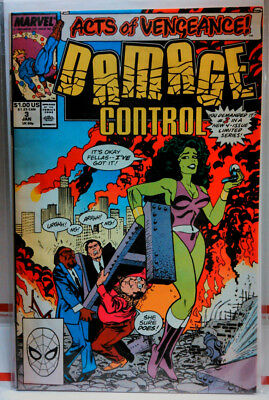 DAMAGE CONTROL (1989) #3 VF+ MARVEL COMICS Avengers SHE-HULK Acts of Vengeance