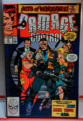 DAMAGE CONTROL (1989) #4 NM- LOW PRINT RUN FINAL ISSUE Marvel Comics AVENGERS