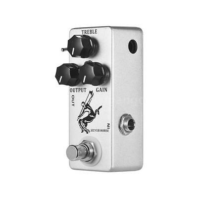 MOSKY Silver Horse Overdrive Boost Guitar Effect Pedal Full Metal Shell G1C7