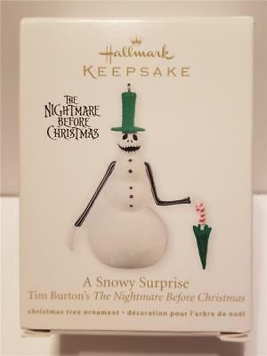 New 2011 Nightmare Before Christmas Jack A Snowy Surprise Hallmark Ornament
