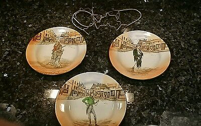 3 Royal Doulton Dickens Lunch Plates:  Poor Jo, Alfred Jingle, Bill Sykes