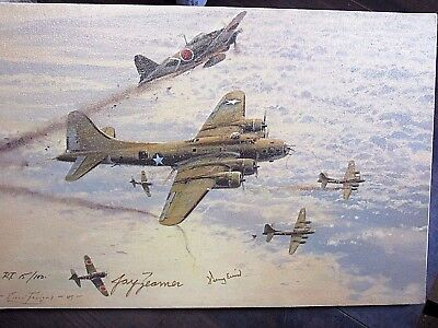 Jay Zeamer Wwii Flying Fortress Art 15/100 Signed Air Force Numbered Original Ex