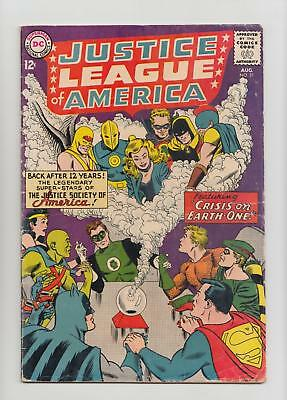 Justice League of America #21 1st Silver Age JSA Appearance (DC 1963) VG+ 4.5 Q