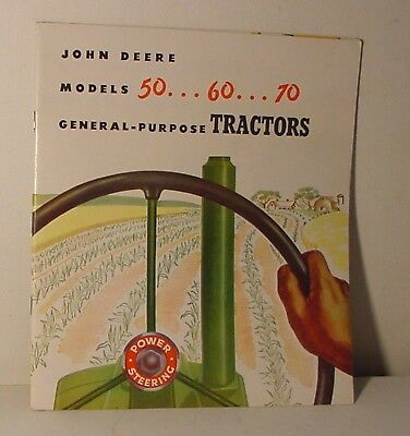 John Deere Models 50.. 60.. 70 General-Purpose Tractors Catalog 40 Page NICE!