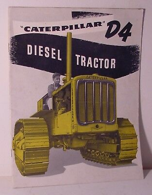 1952 Caterpillar D4 Diesel Tractor Catalog 32 Pages
