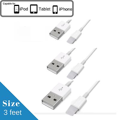 3FT 1M USB Data Sync Charge Charger Cable Cord For iPhone 5 5S iPhone 6 6S